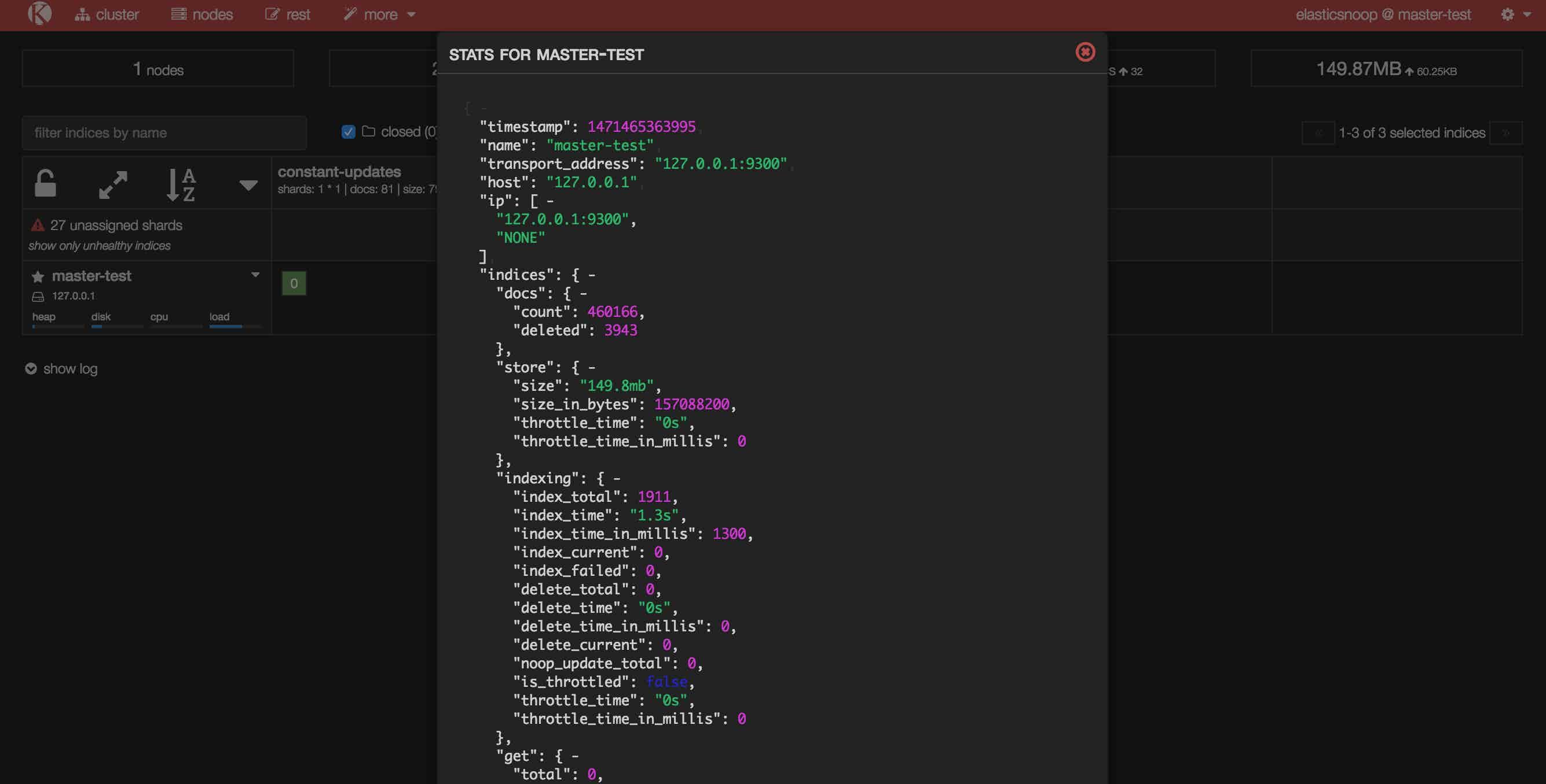 monitor elasticsearch metrics kopf nodes stats