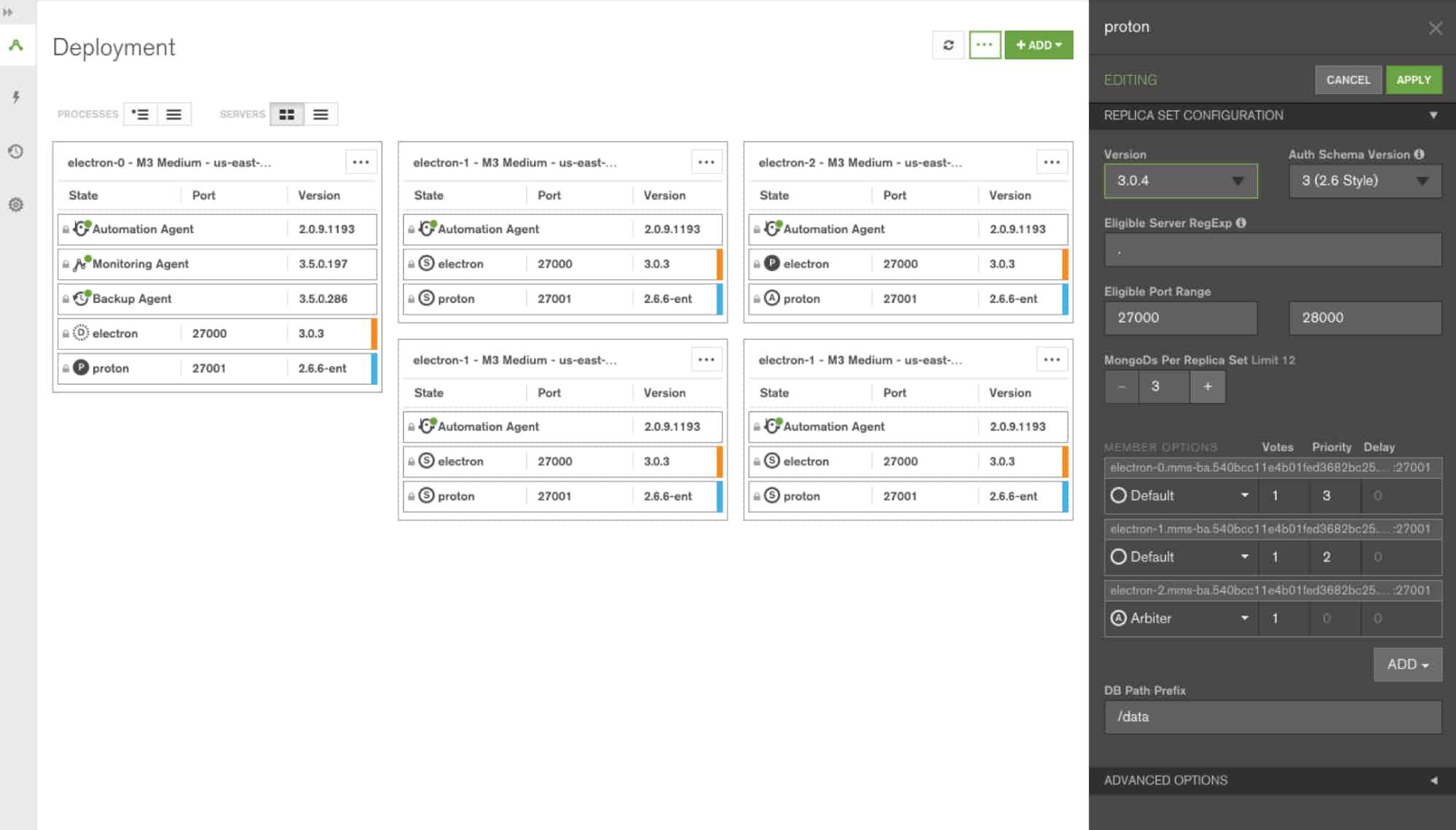 mongodb metrics - MongoDB Cloud Manager