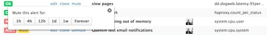 alert notifications
