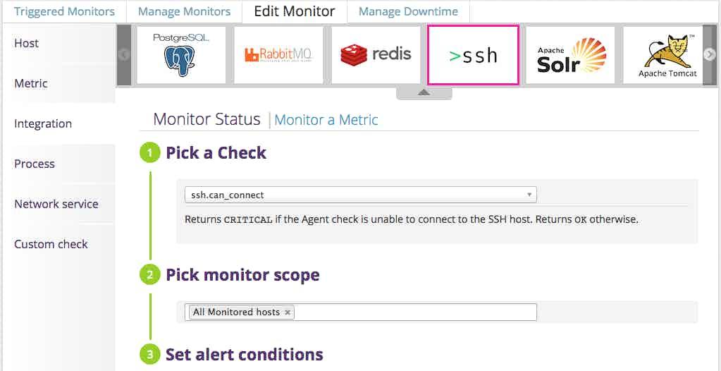 monitor SSH alert setup
