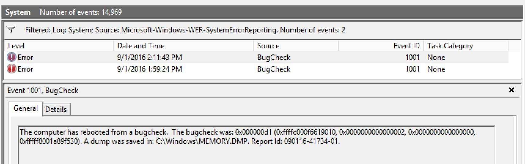 Windows Server 2012 monitoring - IRQL Less or not equal