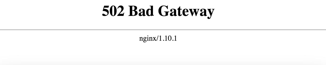 502 Bad Gateway Nginx