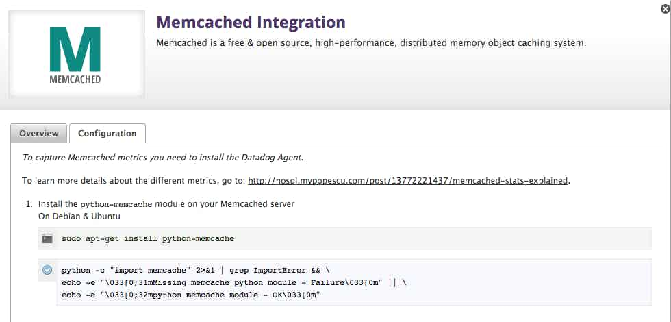 memcached monitoring