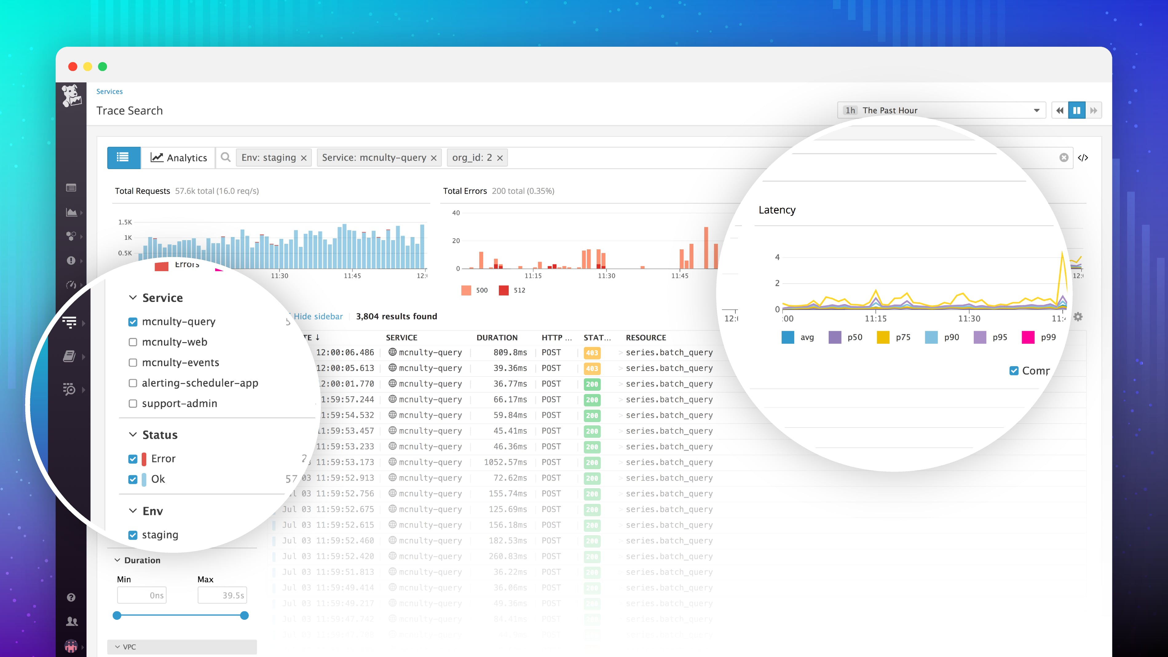 Introducing APM Trace Search & Analytics with infinite cardinality